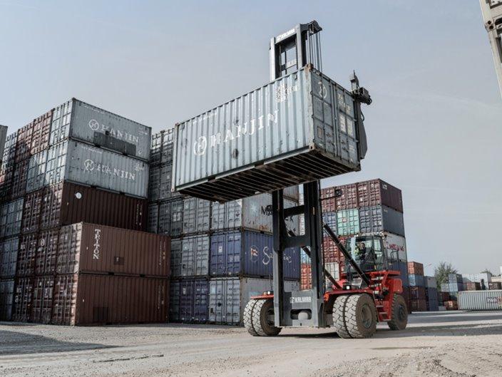New Kalmar Empty Container Handler At Cdm Kalmarglobal